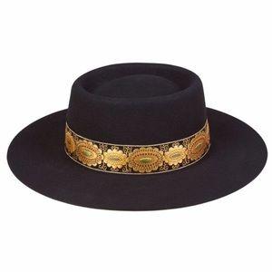 GYMBOREE Posh /& Plaful Black Derby Hat SIZE Medium OR Large NEW